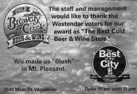 Brewery Creek Liquor Award best