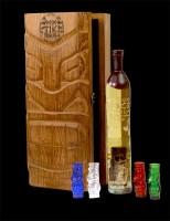 Voodoo Tiki  Tequila Private Collection_Door Open Crack_Bottle and Shotglasses