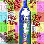 Voodoo Tiki_Warhol Style Art_Platinum