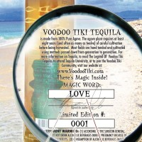Voodoo tiki_Bottle Back_Magic Word_Close Up