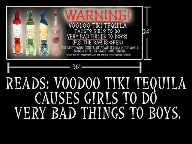 Voodoo Tiki Tequila Magic Words Banner