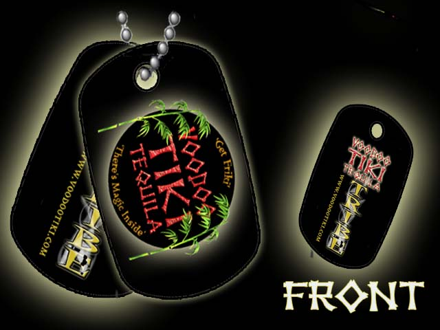 Voodoo Tiki Tequila Dog Tags